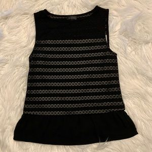The Limited Black Shell Tank w/skirted bottom